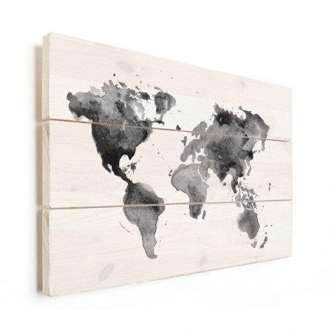 Aquarel zwart - wit hout