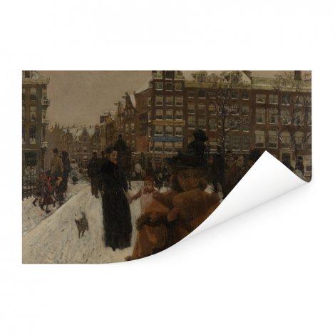De Singelbrug bij de Paleisstraat in Amsterdam - Schilderij van George Hendrik Breitner Poster