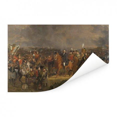 De Slag bij Waterloo - Schilderij van Jan Willem Pieneman Poster
