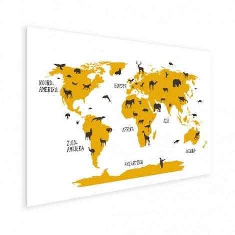 Dieren geel poster