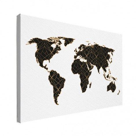 Geometrisch zwart-goud canvas