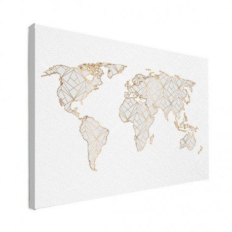 Geometrisch goud-lichtgrijs canvas