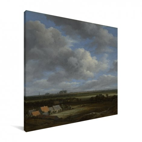 Gezicht op Haarlem uit het noordwesten - Schilderij van Jacob van Ruisdael Canvas