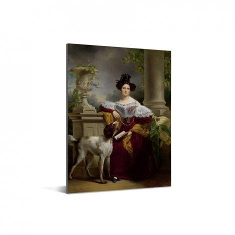 Portret van Alida Christina Assink - Schilderij van Jan Adam Kruseman Aluminium