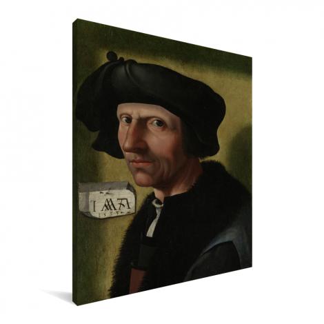 Portret van Jacob Cornelisz van Oostsanen - Schilderij van Jacob Cornelisz van Oostsanen Canvas
