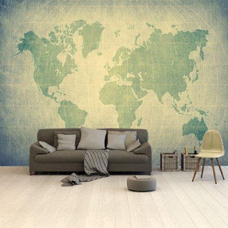 Perkament - groen behang