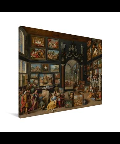 Apelles schildert Campaspe - Schilderij van Willem van Haecht Canvas