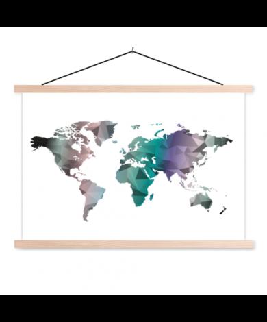 Geometrisch kleur textielposter