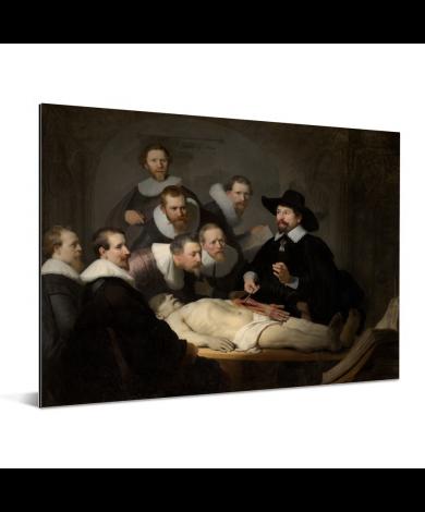 De anatomische les van Dr Nicolaes Tulp - Schilderij van Rembrandt van Rijn Aluminium