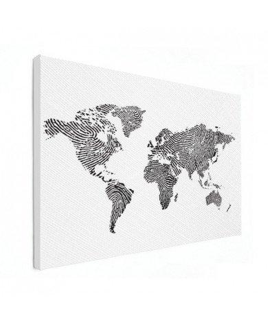 Vingerafdruk - zwart wit canvas