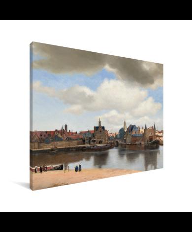 Gezicht op Delft - Schilderij van Johannes Vermeer Canvas