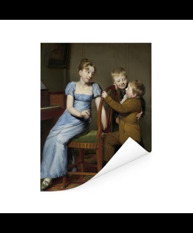 Het gestoorde pianospel - Schilderij van Willem Bartel van der Kooi Poster