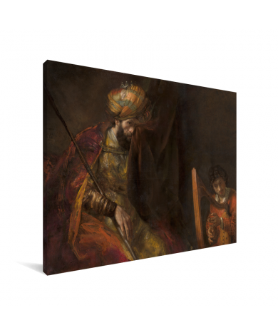 Saul en David - Schilderij van Rembrandt van Rijn Canvas
