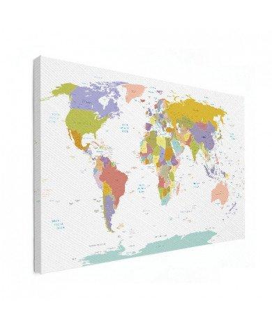 Alle landen - pastel canvas