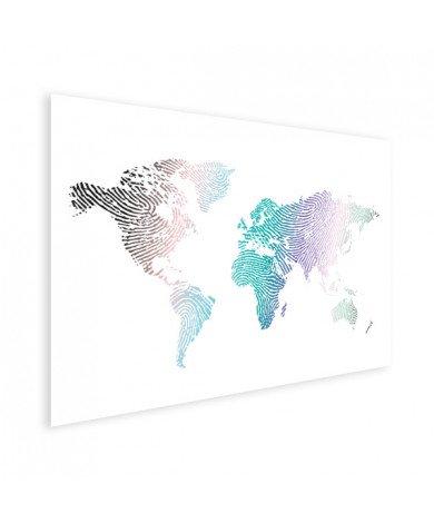 Vingerafdruk - kleur poster