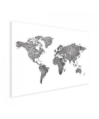 Vingerafdruk - zwart wit poster