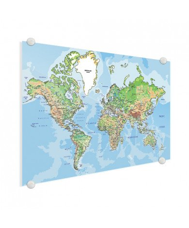 Geografisch plexiglas