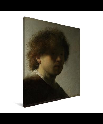 Zelfportret van Rembrandt - Schilderij van Rembrandt van Rijn Canvas
