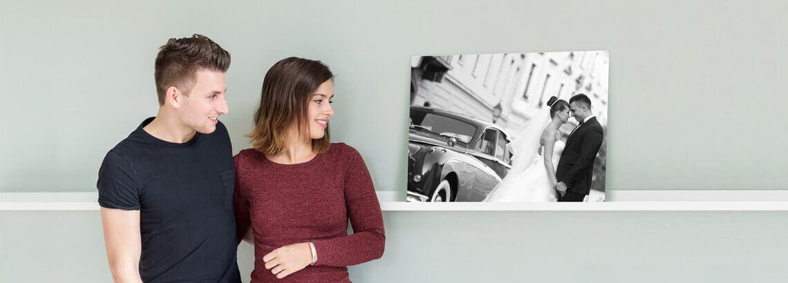 Fotograaf fotoshoot huwelijk op canvas