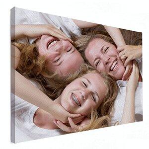 Moeder en dochters op canvas